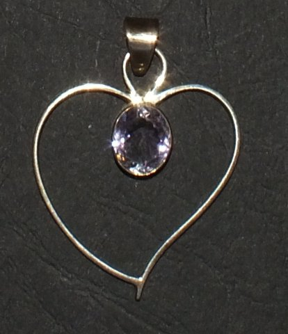 Faceted Amethyst Heart